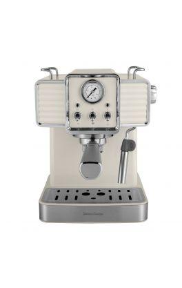 Retro ciśnieniowy ekspres do kawy Vintage Cuisine - krem