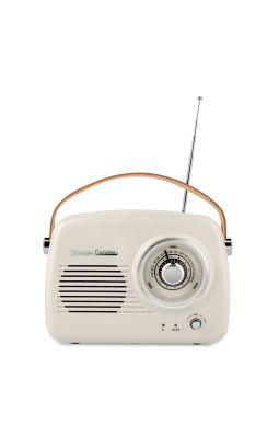 Retro radio z głośnikiem bluetooth Vintage Cuisine - krem